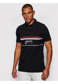 Musto Polo Amalfi 82017 Czarny Regular Fit. Typ kołnierza: polo. Kolor: czarny #1