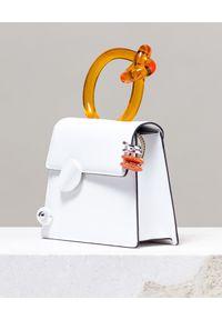 BENEDETTA BRUZZICHES - Biała torebka na ramię BB White. Kolor: biały. Wzór: aplikacja. Rodzaj torebki: na ramię