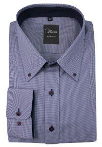 Niebieska elegancka koszula Ranir w kratkę, z długim rękawem, długa, na spotkanie biznesowe #3