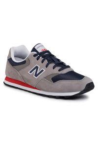 Szare buty sportowe New Balance na co dzień, z cholewką