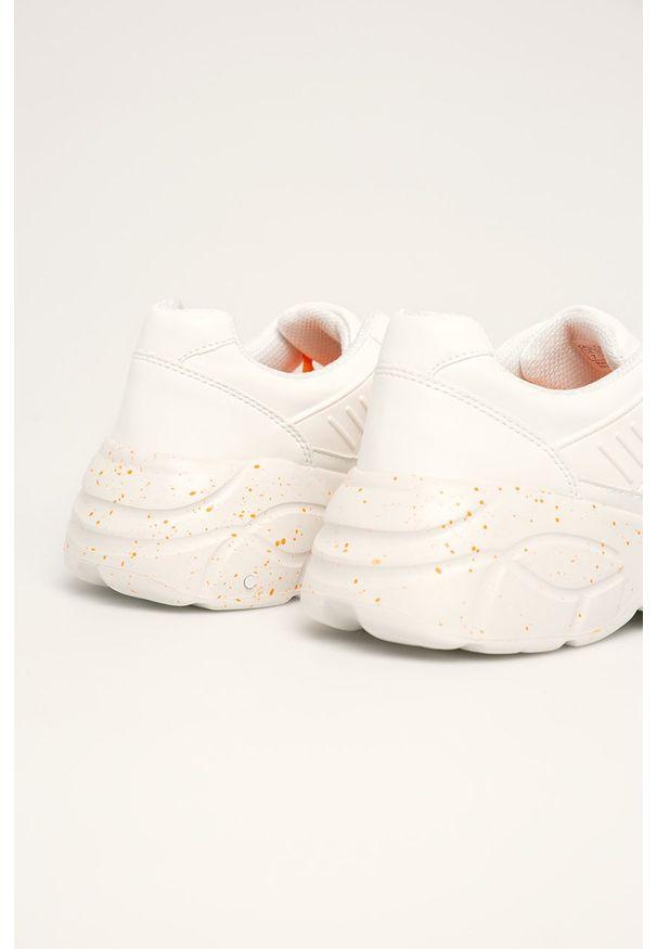 Białe buty sportowe Call It Spring z cholewką, na sznurówki, z okrągłym noskiem