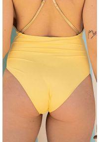 Undiz - Strój kąpielowy SUNGLAMIZ. Kolor: żółty. Materiał: dzianina