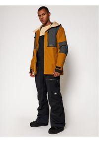 Quiksilver Kurtka narciarska Tamarack EQYTJ03269 Brązowy Modern Fit. Kolor: brązowy. Sport: narciarstwo