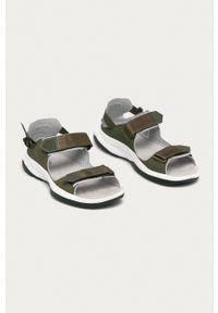 salomon - Salomon - Sandały Tech Sandal Feel. Zapięcie: rzepy. Kolor: zielony. Materiał: skóra, materiał, guma. Wzór: gładki