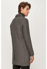 Szary płaszcz PRODUKT by Jack & Jones klasyczny, na co dzień