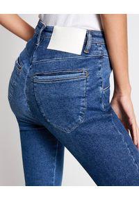Niebieskie jeansy ONETEASPOON casualowe, na co dzień, z podwyższonym stanem