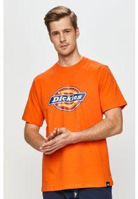 Pomarańczowy t-shirt Dickies casualowy, na co dzień