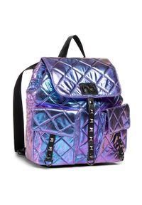 Fioletowy plecak Nobo w kolorowe wzory
