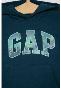 Niebieska bluza GAP casualowa, z kapturem, na co dzień #3