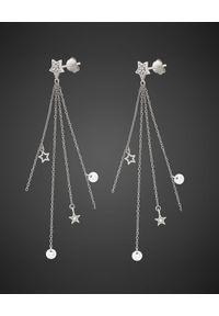 SIN BY MANNEI - Srebrne Kolczyki Stars & Crystals No 2. Materiał: srebrne. Kolor: srebrny. Kamień szlachetny: cyrkonia