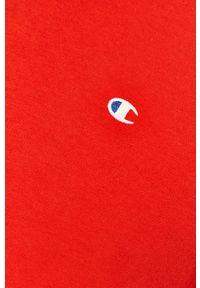 Champion - T-shirt. Okazja: na co dzień. Kolor: czerwony. Styl: casual