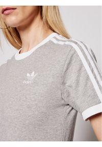 Adidas - adidas T-Shirt adicolor Classics 3-Stripes GN2909 Szary Regular Fit. Kolor: szary