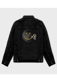 MegaKoszulki - Kurtka jeansowa damska Paint The Moon. Materiał: jeans. Wzór: nadruk. Sezon: wiosna. Styl: klasyczny