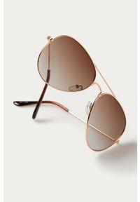 Złote okulary przeciwsłoneczne Answear Lab