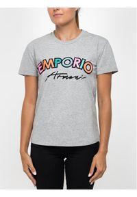Emporio Armani T-Shirt 6G2T6D 2JQAZ 0616 Szary Regular Fit. Kolor: szary