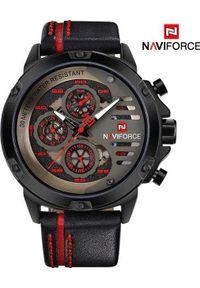 Czerwony zegarek Naviforce