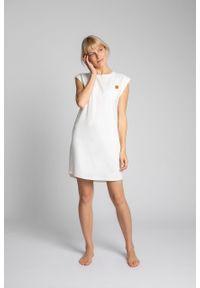 e-margeritka - Sukienka bawełniana mini bez rękawów - l. Okazja: na co dzień. Materiał: bawełna. Długość rękawa: bez rękawów. Typ sukienki: proste. Styl: casual. Długość: mini