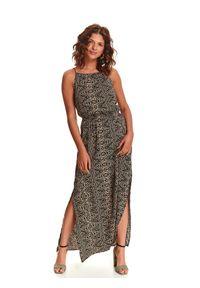 Czarna sukienka TOP SECRET casualowa, prosta, na lato, z dekoltem halter