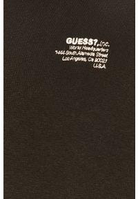 Czarna bluza nierozpinana Guess Jeans na co dzień, raglanowy rękaw, z aplikacjami