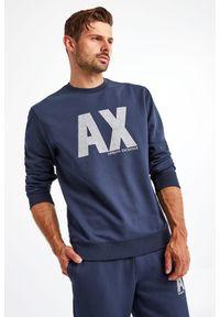 Armani Exchange - BLUZA ARMANI EXCHANGE. Materiał: tkanina. Długość: długie
