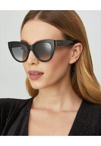 Gucci - GUCCI - Czarne okulary przeciwsłoneczne. Kolor: czarny