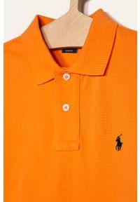 Pomarańczowy t-shirt polo Polo Ralph Lauren krótki, polo