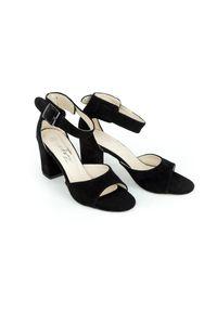 Czarne sandały Zapato wąskie, w kolorowe wzory