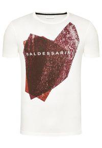 Baldessarini T-Shirt B4 20013/5015/1015 Biały Regular Fit. Kolor: biały