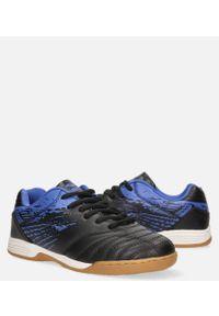 Casu - czarne buty sportowe halówki sznurowane casu b1901b-3. Kolor: wielokolorowy, niebieski, czarny