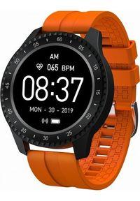 Pomarańczowy zegarek Garett Electronics sportowy, smartwatch