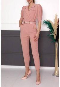 Różowy kombinezon IVET elegancki, na co dzień