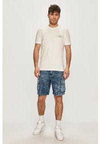 Desigual - Szorty jeansowe. Okazja: na co dzień. Kolor: niebieski. Materiał: jeans. Styl: casual