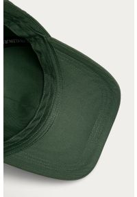 Zielona czapka z daszkiem Calvin Klein Jeans gładkie