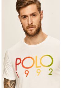 Biały t-shirt Polo Ralph Lauren z nadrukiem, polo