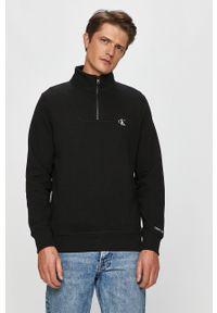 Czarna bluza nierozpinana Calvin Klein Jeans bez kaptura, casualowa