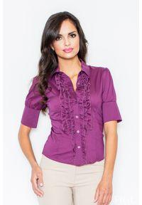 Koszula Figl z falbankami, elegancka, w kolorowe wzory