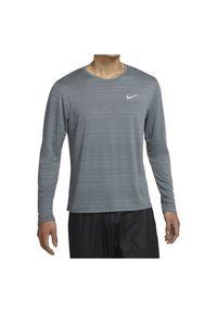 Koszulka męska do biegania Nike Dri-FIT Miler CU5989. Materiał: tkanina, materiał, poliester. Długość rękawa: długi rękaw. Technologia: Dri-Fit (Nike). Długość: długie