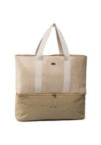 Beżowa torebka klasyczna Roxy klasyczna