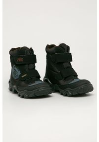 Czarne buty zimowe Primigi na rzepy, na zimę, z cholewką
