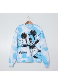 House - Bluza tie-dye z nadrukiem Mickey Mouse - Niebieski. Kolor: niebieski. Wzór: nadruk, motyw z bajki