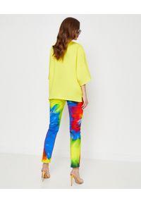 ALEXANDRE VAUTHIER - Żółta koszulka oversize. Okazja: na co dzień. Kolor: żółty. Materiał: bawełna, jeans. Styl: klasyczny, casual