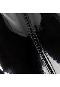 Czarne botki Gino Rossi na średnim obcasie, z cholewką, na obcasie