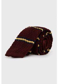 Polo Ralph Lauren - Krawat wełniany. Kolor: czerwony. Materiał: wełna
