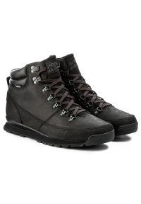Czarne buty trekkingowe The North Face z cholewką, trekkingowe