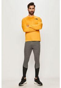 Pomarańczowa koszulka z długim rękawem The North Face casualowa, na co dzień