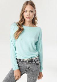 Miętowy sweter Born2be