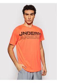 Under Armour Koszulka techniczna Wordmark 1361702 Pomarańczowy Loose Fit. Kolor: pomarańczowy