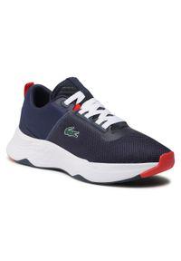 Lacoste - Sneakersy LACOSTE - Court-Drive 0721 1 Sma 7-41SMA0045092 Nvy/Wht. Okazja: na co dzień. Kolor: niebieski. Materiał: materiał. Szerokość cholewki: normalna. Styl: casual, sportowy