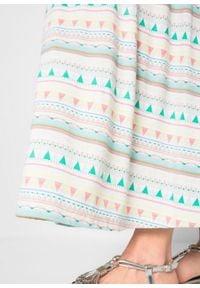 Sukienka ciążowa shirtowa bonprix biały wzorzysty. Kolekcja: moda ciążowa. Kolor: biały