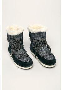 Niebieskie śniegowce Moon Boot z okrągłym noskiem, na sznurówki, z cholewką #4
